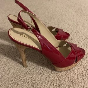 Guess Red High Heel Sandal Size 9